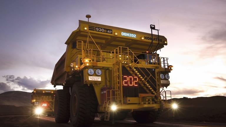 Rio Tinto autonomous haulage trucks, West Angelas minesite.