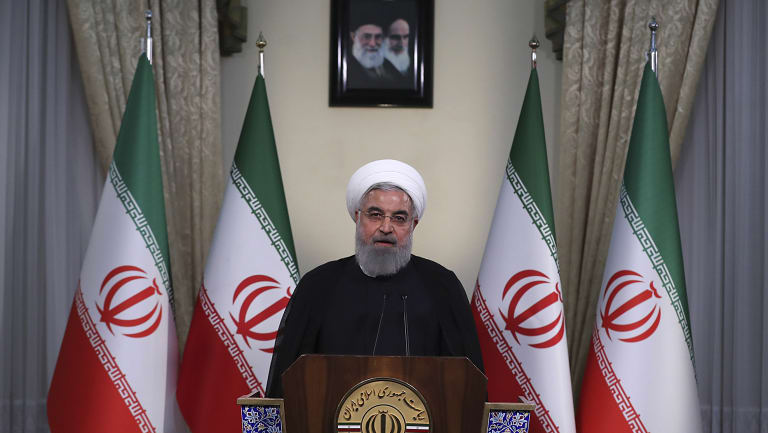 Iranian President Hassan Rouhani addressing the nation after Trump's decision. The prospect of losing Iranian oil exports would not have mattered much to the world economy a year ago. It certainly matters now.