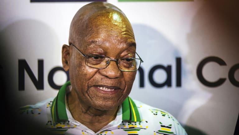 Given an ultimatum: South African President Jacob Zuma.