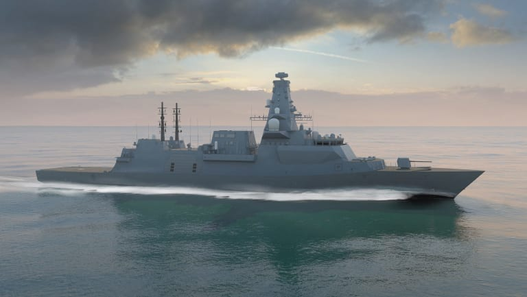 An artist's portrayal of BAE System's Global Combat Ship, which is among the contenders for a $35 billion Australian tender.