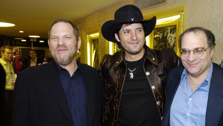 Fall from grace: Harvey Weinstein, director Robert Rodriguez and Bob Weinstein.