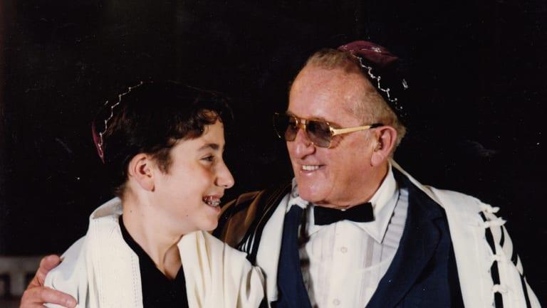 Presser with his grandfather, Jan Randa, in Melbourne in 1989.