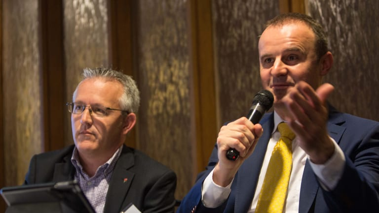 David Smith with ACT Chief Minister Andrew Barr in 2016