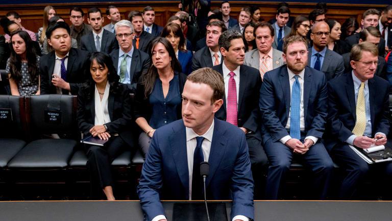 Facebook CEO Mark Zuckerberg arrives to testify last week.