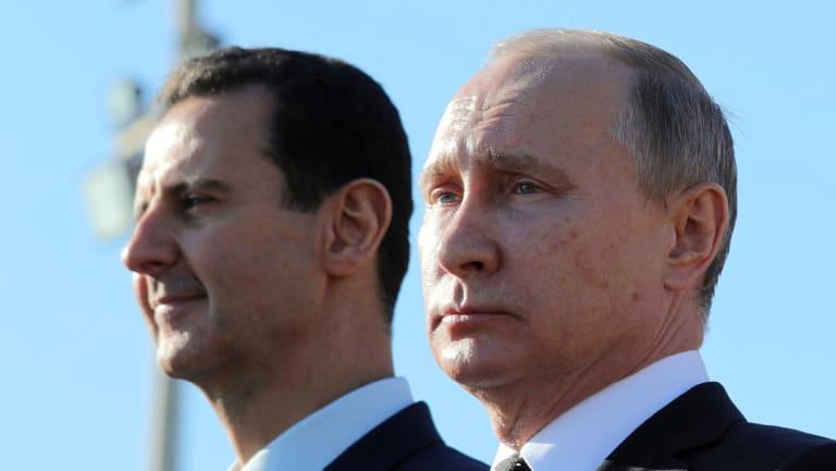 Russian President Vladimir Putin, right, and Syrian President Bashar Assad in 2017.
