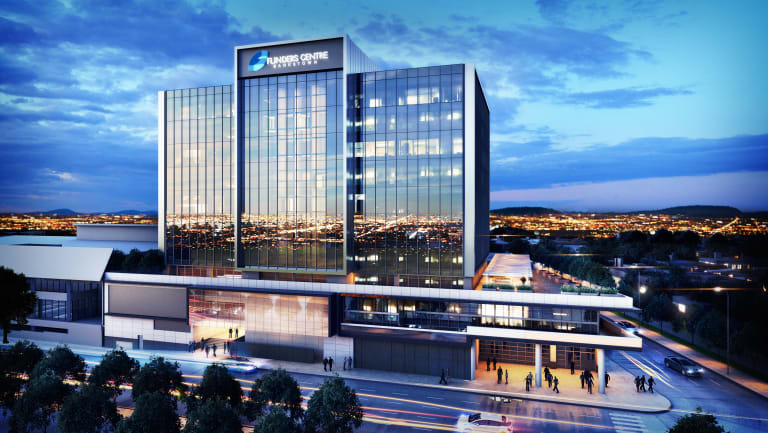 Bankstown Sports Club is behind the $55 million Flinders Centre office tower.
