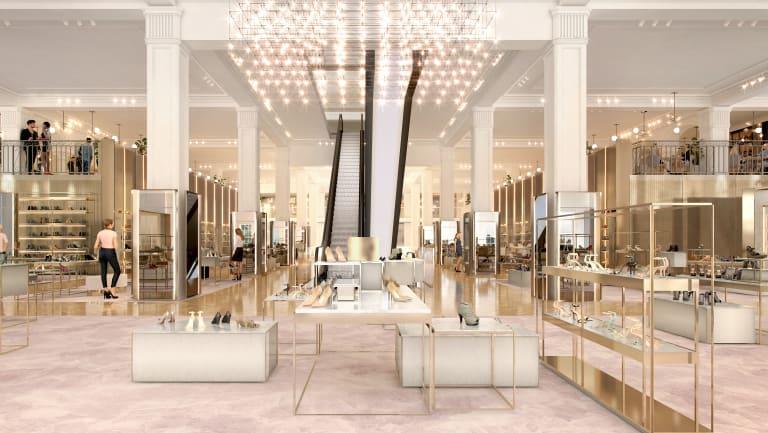 Artist impression of the new seventh floor of the David Jones building in Sydney.