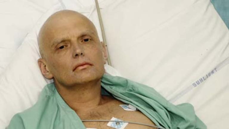 Alexander Litvinenko in his hospital bed before his death.