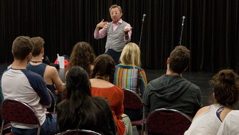 Disney Theatrical Group's president and producer Thomas speaks to Queensland Conservatorium musical theatre students