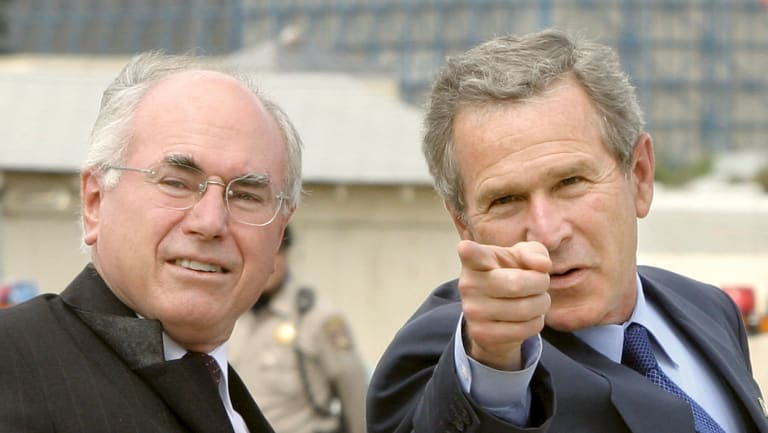 President George Bush and prime minister John Howard in 2003.