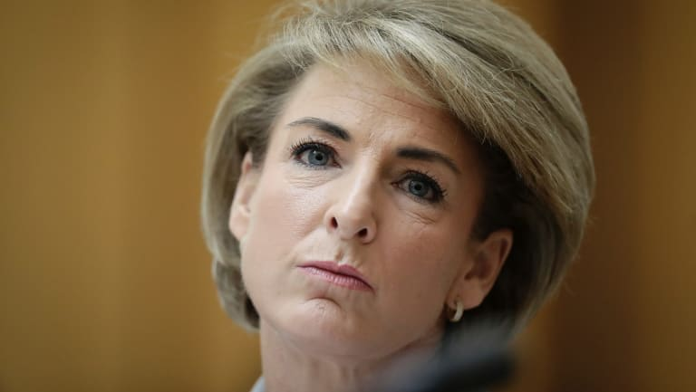 Minister for Jobs and Innovation Michaelia Cash during an estimates hearing at Parliament House.