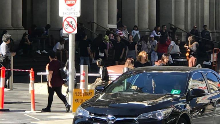 The Police Minister has said mechanical bollards in Bourke Street remain on the agenda after a wayward car drove down the busy pedestrian mall.