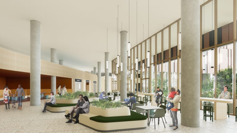 Artist impression of the new food court planned for the revamped Prince of Wales Hospital.