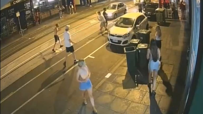 CCTV footage captured of the violent brawl in Chapel Street.
