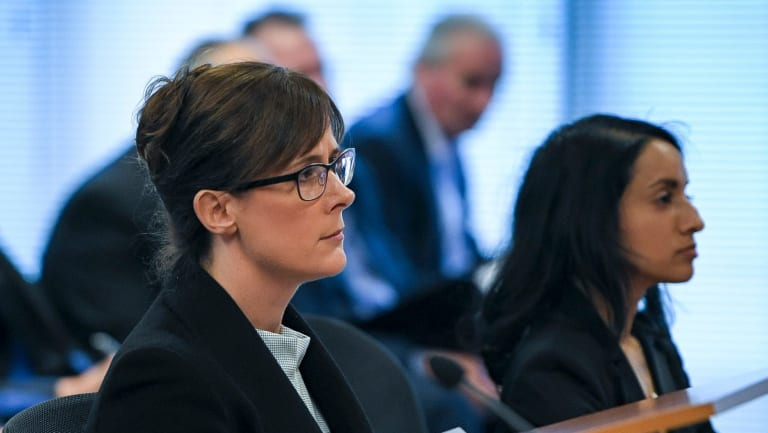 Senior counsel Rowena Orr and Eloise Dias for the banking royal commission.