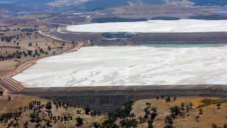 Newcrest has two adjacent tailings dams at its Cadia mine in New South Wales.