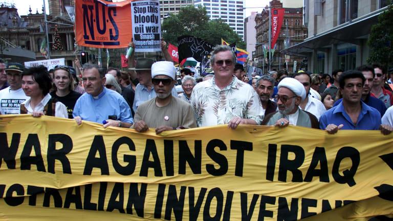 Sydneysiders protest against Australian involvement in Iraq.