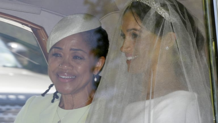 Meghan Markle, right, and her mother Doria Ragland