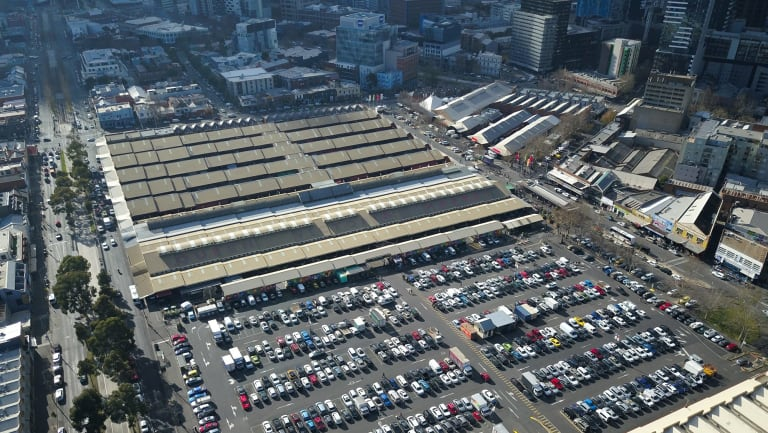 Queen Victoria Market's car park would be turned into open space under Melbourne City Council's redevelopment plan.