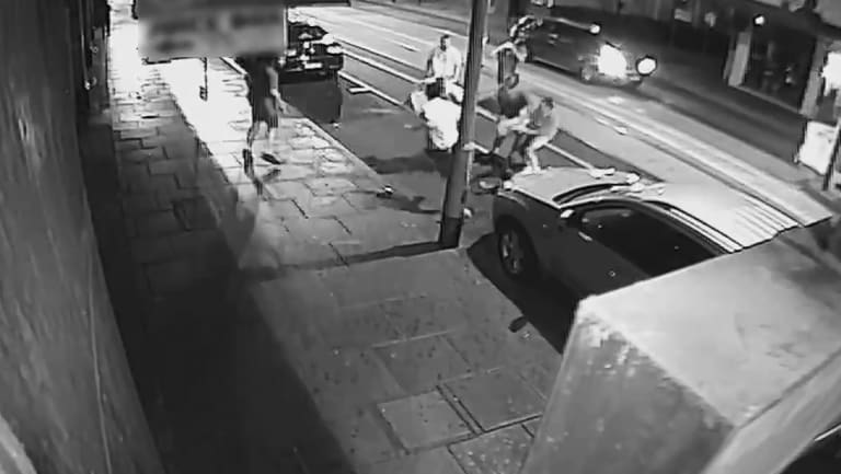 Footage on the violent brawl in Chapel Street