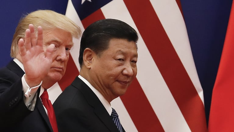 Does Trump want an economic war? The US President with his Chinese counterpart Xi Jinping after a business event in Beijing last November.