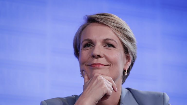 Deputy Opposition Leader Tanya Plibersek delivers her International Women's Day address to the National Press Club of Australia in Canberra on Wednesday 7 March 2018.
