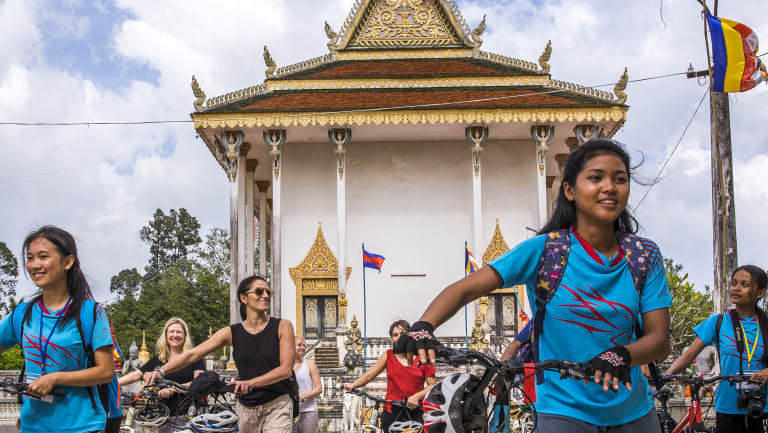 The Journeys of Change bike tour in Phnom Penh.