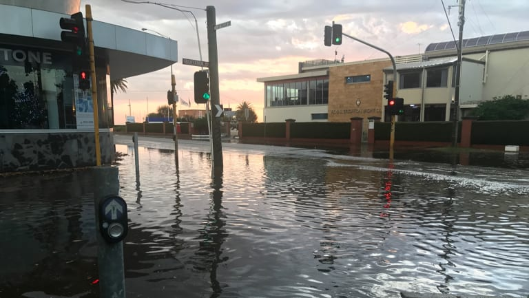 Grosvenor Street in Brighton after Tuesday's deluge.