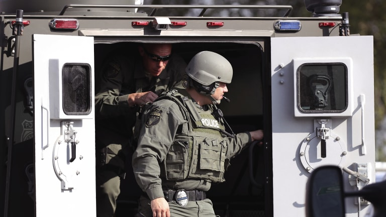 Authorities found explosives on and off the campus at Santa Fe.