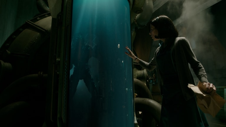 Doug Jones and Sally Hawkins in the film The Shape of Water.