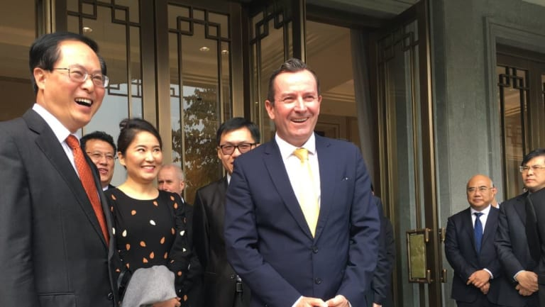 Premier Mark McGowancelebrates the 30th anniversary of the WA-Zhejiang sister-state relationship with Province Communist Party Secretary Che Jun on November 10.