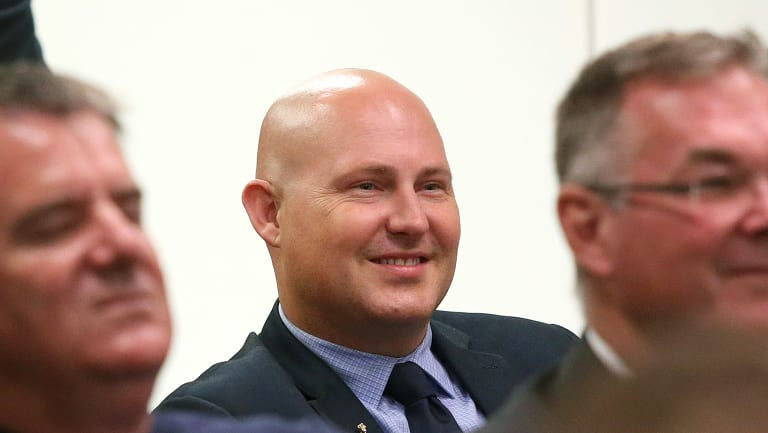 QLD Labor MP Curtis Pitt attends a Labor Caucus meeting at Parliament House on Monday.