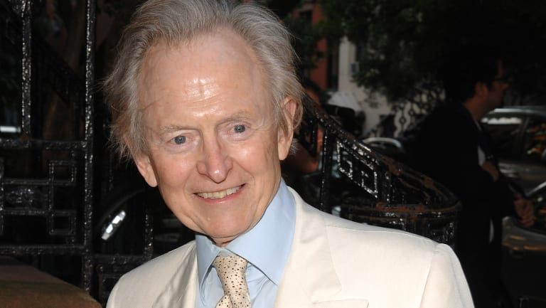"Tom Wolfe arrives to a special screening of ""Gonzo: The Life and Work of Dr. Hunter S. Thompson"" in New York. in 2008."