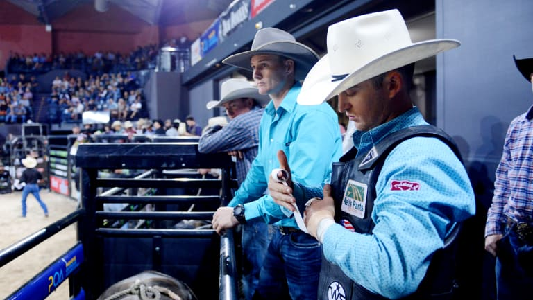 Riding for Australia: Wilkinson will line up for his country in the PBR Global Cup this weekend.