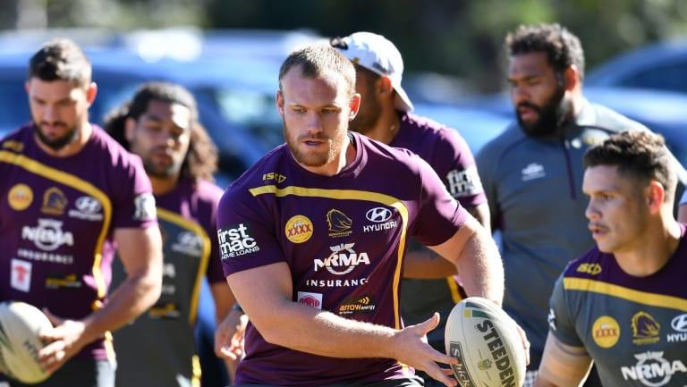 Last chance: Matt Lodge has impressed in training with Brisbane.