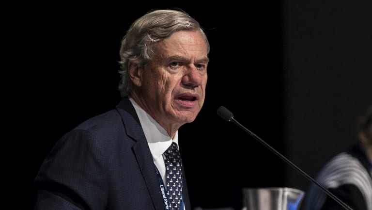 The Victorian Liberal Party president Michael Kroger at the state council meeting earlier this year.