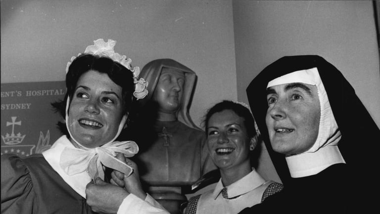 Staff celebrate St Vincent's 125th anniversary in 1982. The nuns who founded the hospital could not have imagined what a large institution it would become.