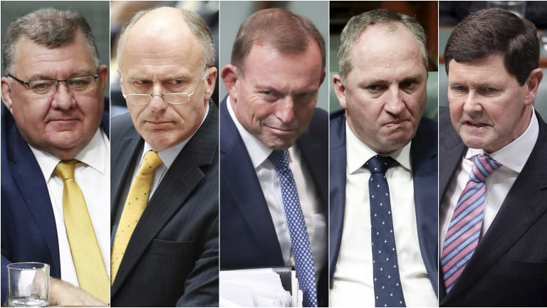 Members of the Monash Forum include Craig Kelly, Eric Abetz, Tony Abbott, Barnaby Joyce and Kevin Andrews.