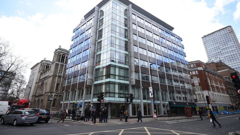 The offices of Cambridge Analytica in central London which announced it was closing in March.