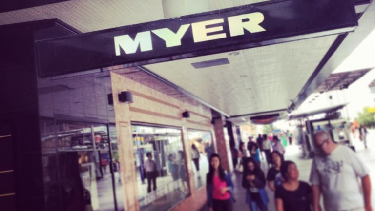 Myer has reported a 2.7 per cent fall in sales.