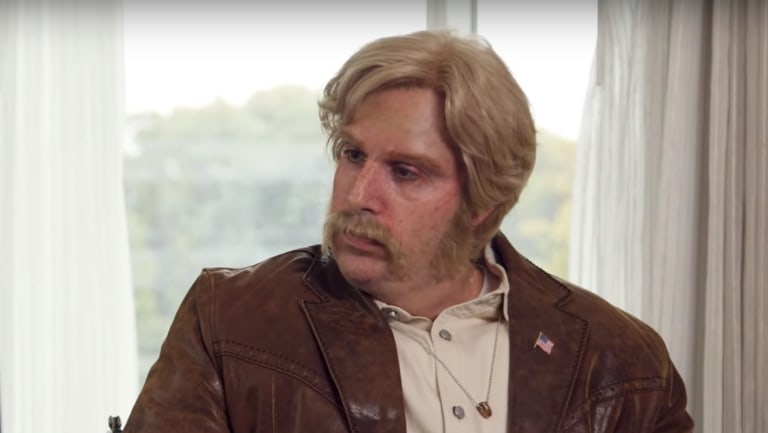 Sacha Baron Cohen in character on Who Is America?, as