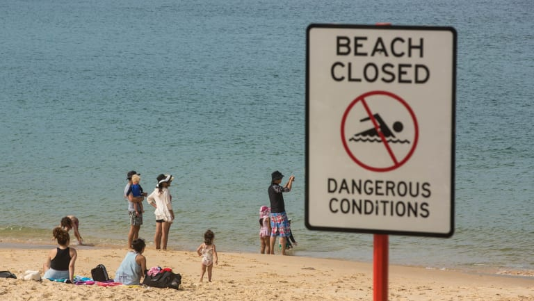 Congwong Beach was closed on Saturday after the shark attack on Friday night.