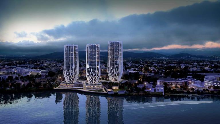 An artist's impression of Sunland's proposed $430 million Grace on Coronation development.