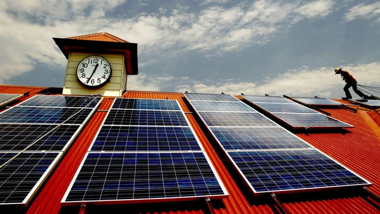Solar installations on public buildings are providing additional power, helping Australian communities keep power local.