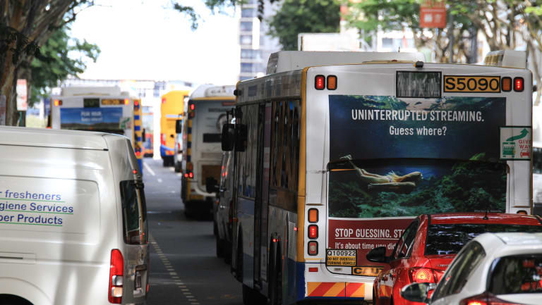 The cost of public transport is down 11.3 per cent in Brisbane.