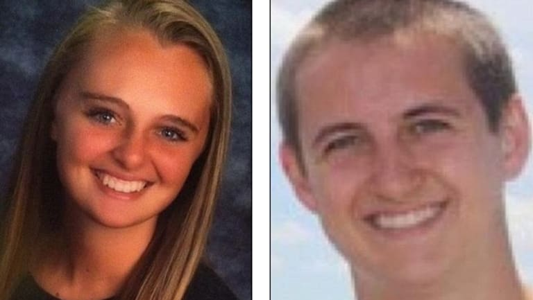 Michelle Carter and Conrad Roy.