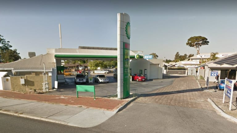 The BP service station in Alexander Heights.