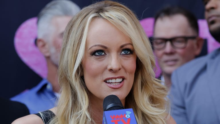 Porn actress Stormy Daniels is suing Donald Trump.