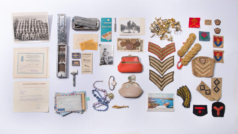 This collection of keepsakes were found in a chipboard box outside a house up for auction near the writer's home.