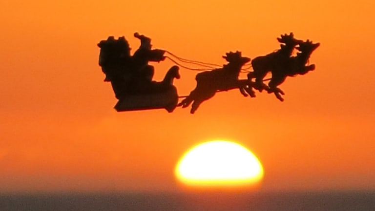 Santa will bring hot weather to Brisbane this Christmas Day.